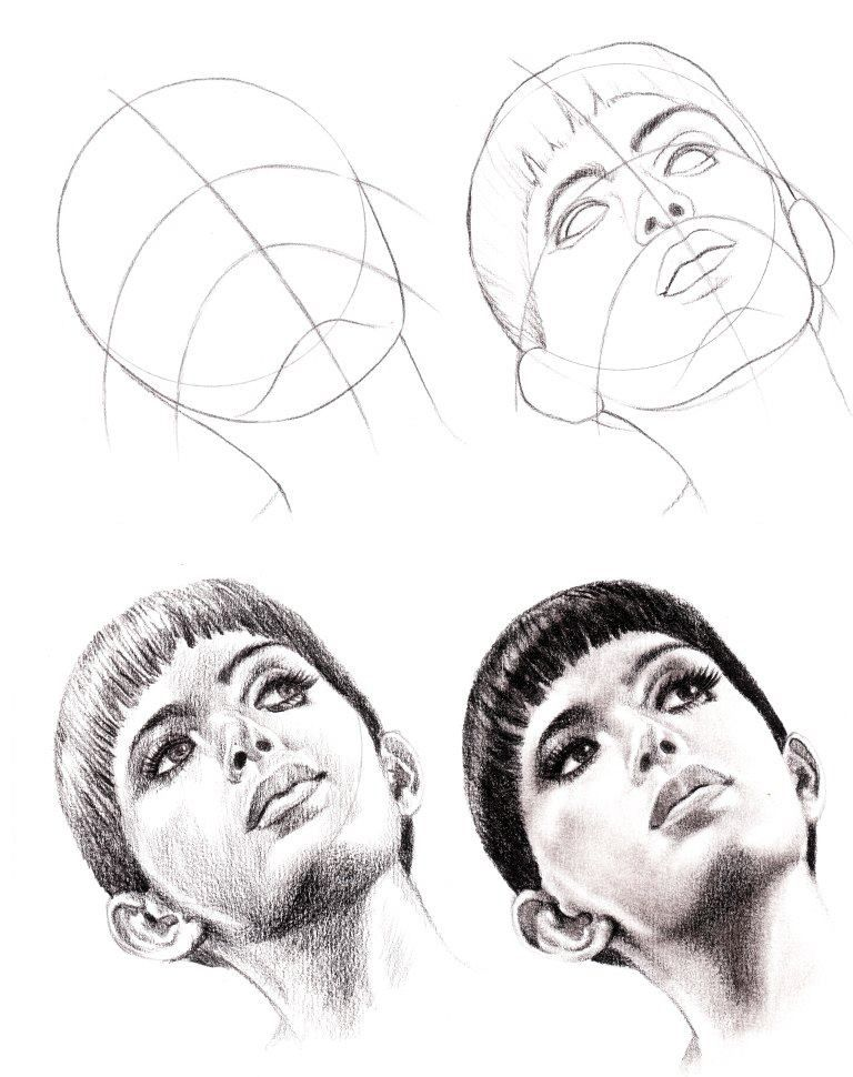 step by step portrait drawing tutorial