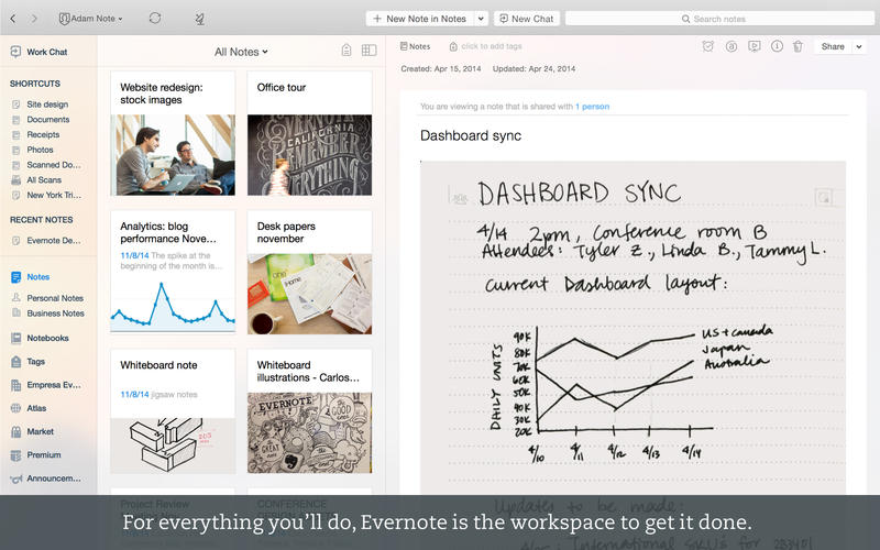 evernote work chat tutorial