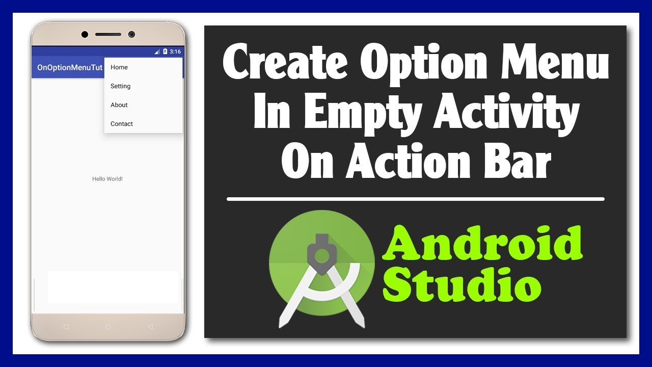 android studio action bar tutorial