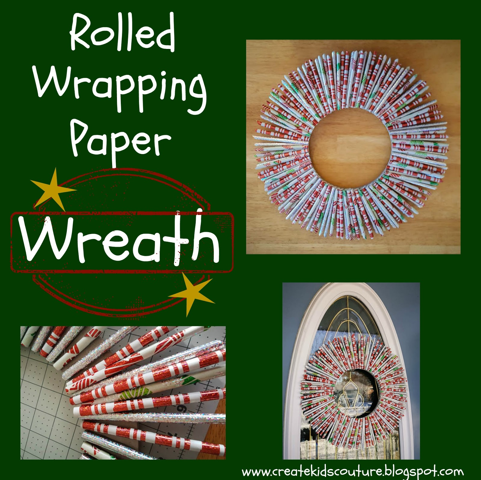 rolled paper wreath tutorial
