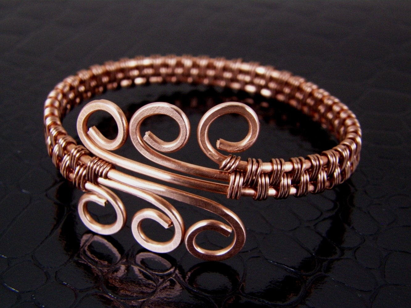 wire wrapped bangle tutorial